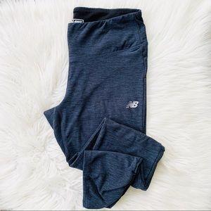 New Balance Dry Heathered Blue Ruched Legging